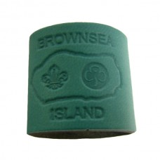 Jade Embossed Leather Woggle