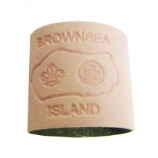 Pale Pink Embossed Leather Woggle