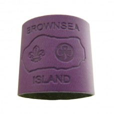 Purple Embossed Leather Woggle