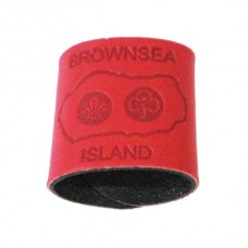 Red Embossed Leather Woggle