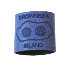 Bright Blue Embossed Leather Woggle